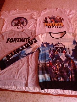 Lote camisetas niño Fortnite