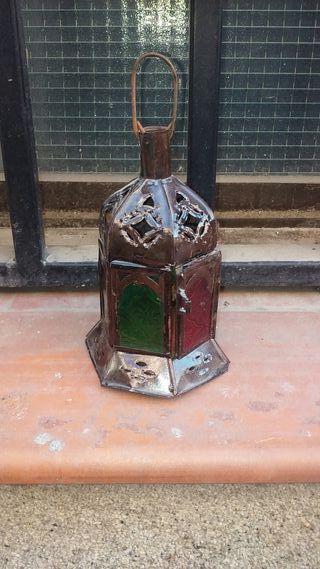 Farol arabe cristal de colores