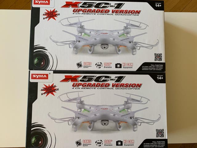 Drones X5C-1 Syma y 12 baterías