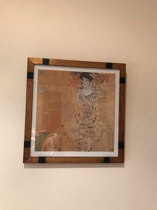 Cuadro de Klimt enmarcado
