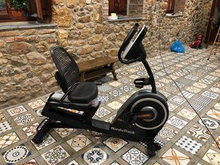 Bicicleta estática reclinable