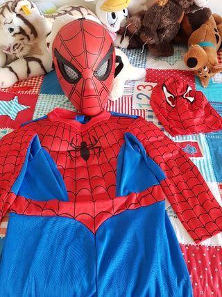 Disfraz de spiderman + máscara Marvel