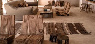 Alfombra kilim lana grande hecho a mano