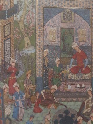Miniatura Persa en papel antiguo del siglo XVII