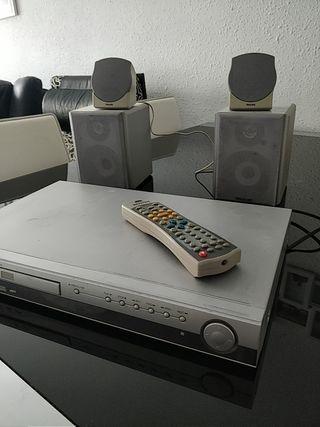 Reproductor DVD + baffles + altavoces