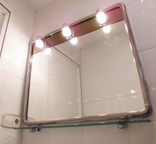 Espejo Baño Vintage Space Age Años 70-80 Cromado