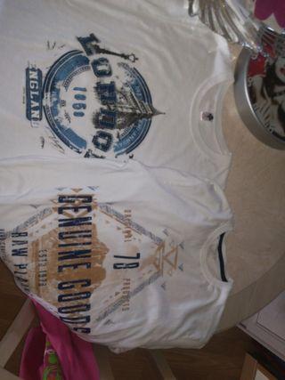 camisetas compradas en Londres talla S y M