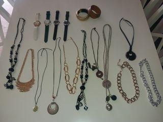 Collares,relojes y pulseras