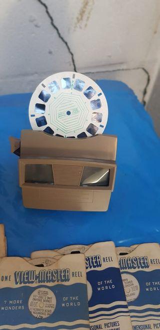 Antigua maquina de diapositiva de disco