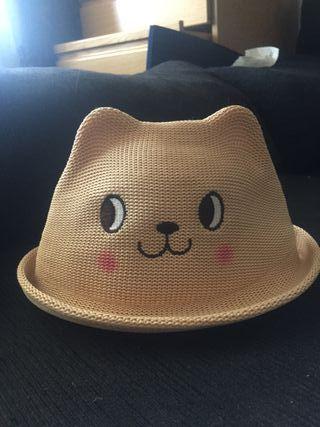 Sombrero Gorra gatito gato bebe 68cm. 4-6 meses