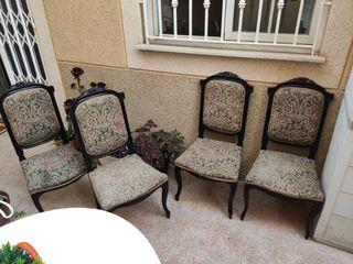 sillas antiguas isabelinas