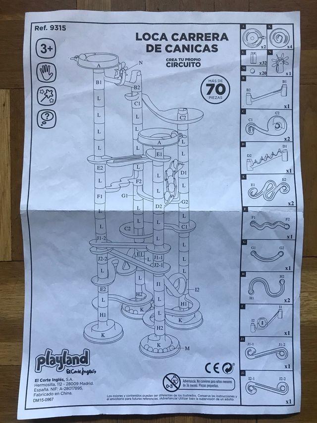 Circuito de canicas 70 piezas