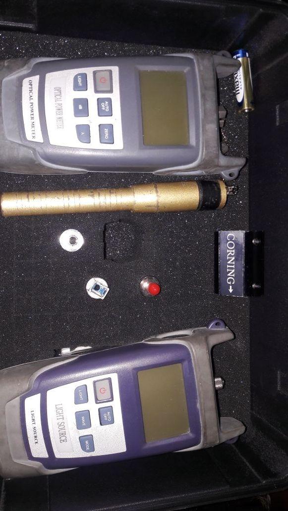 Kit para diagnóstico de fibra óptica