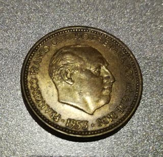2,50 pesetas moneda 1953 * 56 Franco