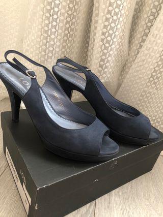 Sandalia Azul Petróleo