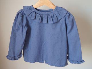 Blusa plumeti azul artesanal