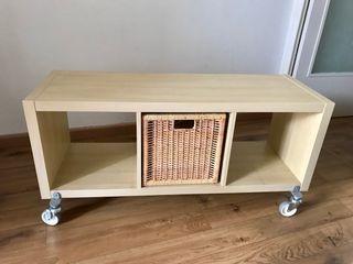 Mueble estantería Kallax/Expedit con ruedas