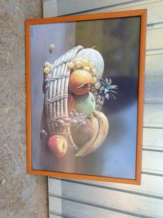 cuadro cesta de frutas