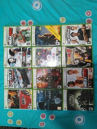 Cajas vacías con instrucciones Xbox 360