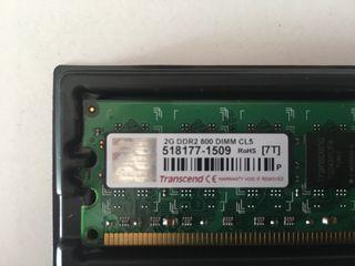 RAM 2 GB DDR2 TRANSCEND Pc Sobremesa
