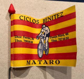 Banderín bicicleta publicidad taller Catalunya