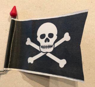 Banderín bicicleta pirata