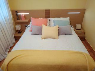 Conjunto ropa de cama y cortinas dormitorio