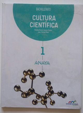 LIBRO CULTURA CIENTIFICA BACHILLERATO ANAYA