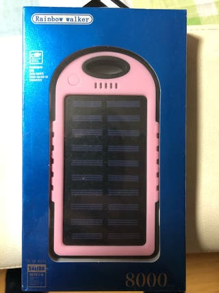 Cargador solar precintado