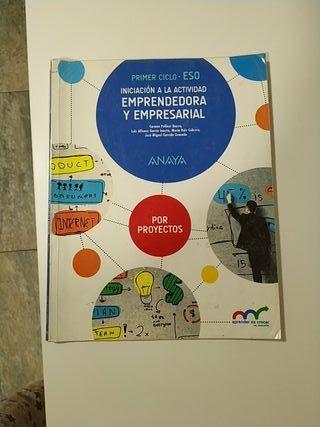 Libro Iniciación Emprendedora y Empresarial 3 eso