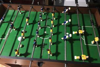 Futbolín/Mesa de billar + 5 juegos intercambiables