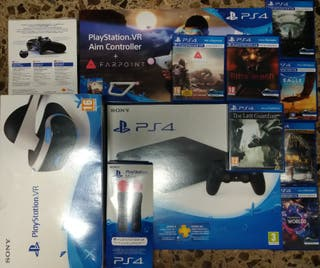 PS4+VR+mando+move+aim controller + juegos