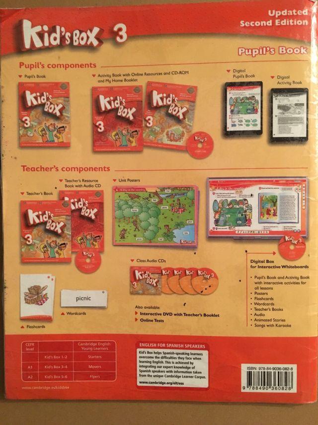 Libro inglés 3 primaria Kid's box . Ed Cambrige