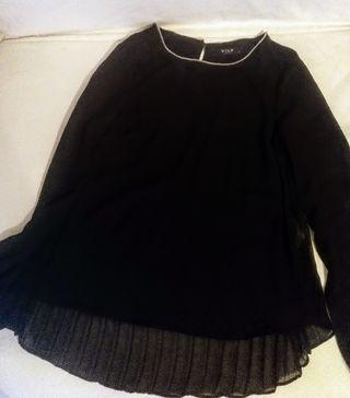 blusa de gasa negra