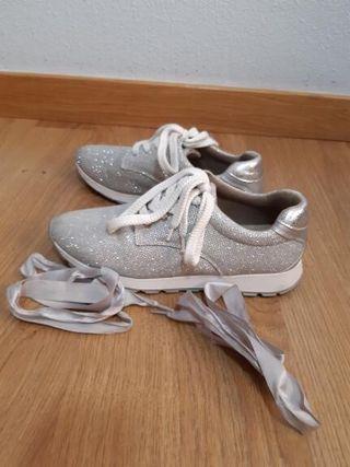 Zapatillas brillantes
