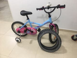 Bicicleta 16 Pulgadas y regalo 2 ruedas Nuevas