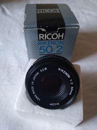 Objetivo Ricoh 50mm F2 pentax