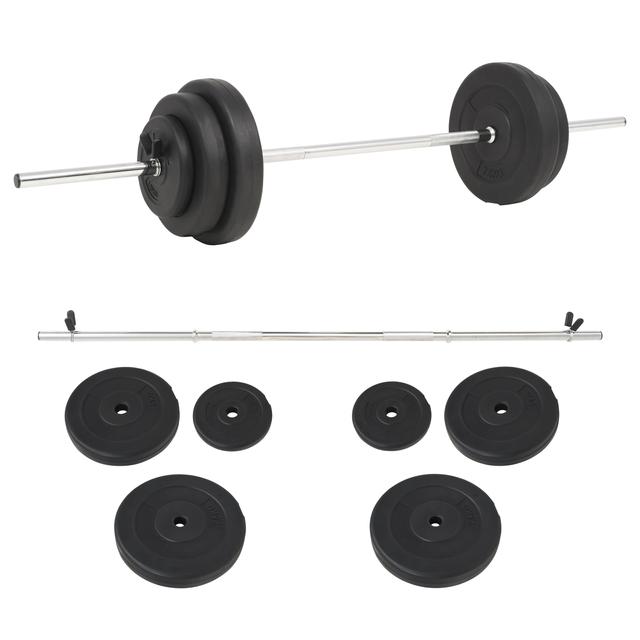 vidaXL Set de pesas 30 kg 91398