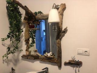 Espejo unico de madera de deriva