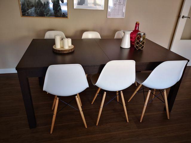Mesa comedor extensible ikea. de segunda mano por 150 € en ...
