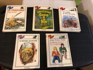 "Lote 5 libros "" tus libros""Anaya tapa dura juvenil"