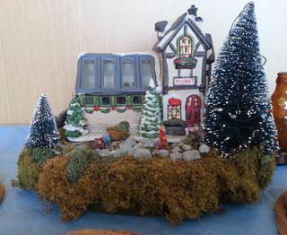 Carrusel de Navidad en diorama. Año 2000