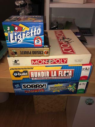 Pack de 8 juegos de mesa