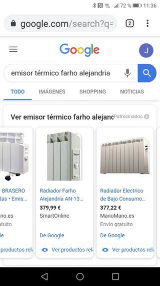 Conjunto radiadores eléctricos