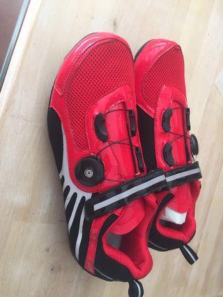 Zapatillas ciclismo suela caucho
