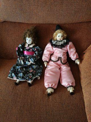 Vendo dos muñecas de porcelana antiguas en muy bue
