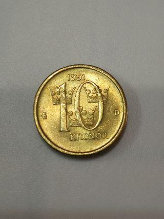 1 moneda Suecia