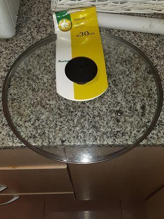 tapa vidrio para sartén de 30cm