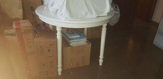 mesa de cocina blanca 100 metro diámetro extensibl
