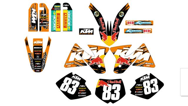 KIT ADHESIVOS KTM 1998-2001